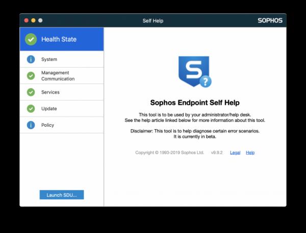 sophos self help